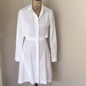 Proenza Schouler White cotton long sleeve dress 2